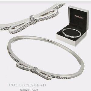 Pandora Bow bangle bracelet